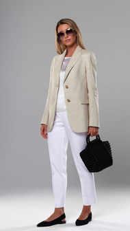 Женский пиджак 2109. Бежевый-Меланж