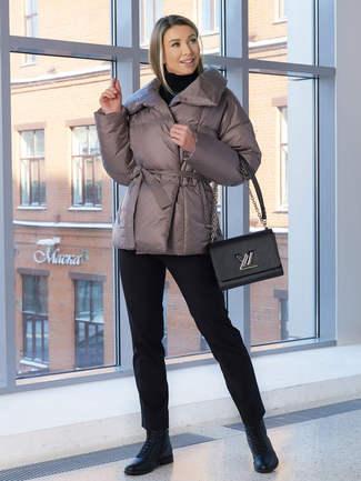 Женская куртка A&I бежево-серого цвета 2029