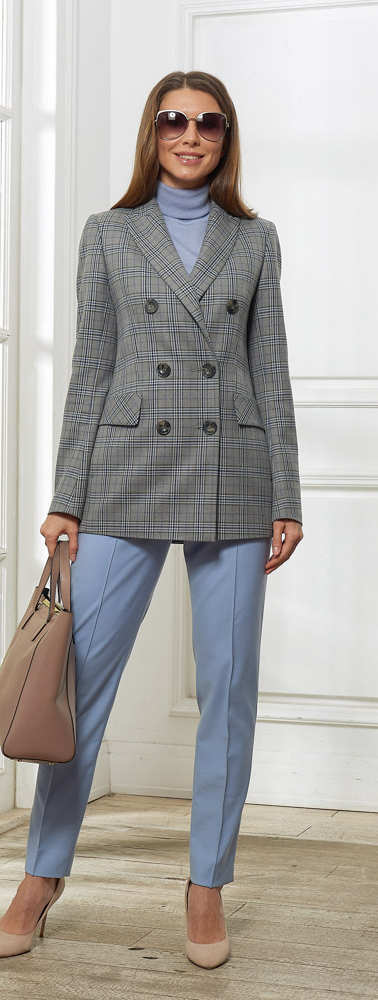 Женский пиджак серо-бежевый