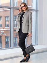 Женский пиджак 2102 светло-серого цвета