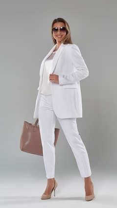 Женский пиджак 2102. Белый