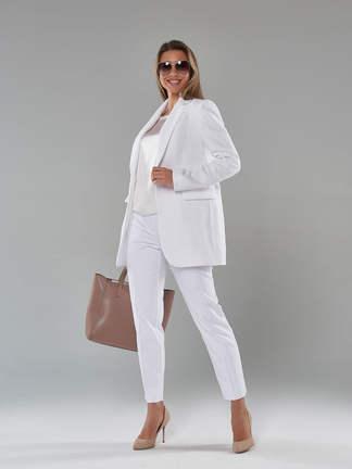 Женский пиджак 2102_Белый