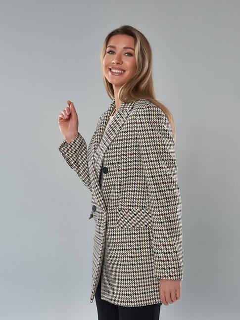 2114_Бежево-Серый, женский пиджак