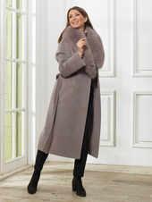Пальто A&I, Светло-серый