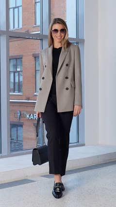 Женский пиджак 2103 светло-серого цвета