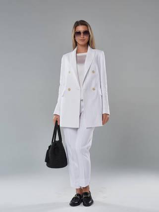 2112_Белый женский пиджак