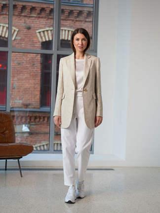 Женский пиджак 2102. Светло-серый