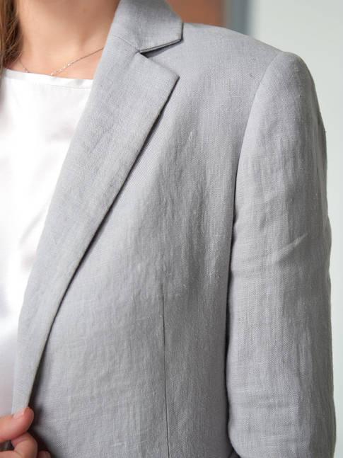 Женский пиджак из льна
