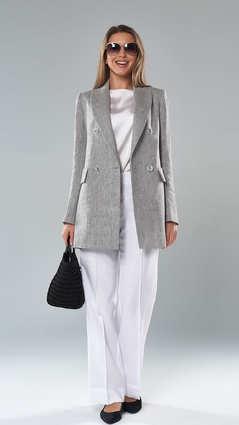 Женский пиджак. 2112_Серый-Меланж