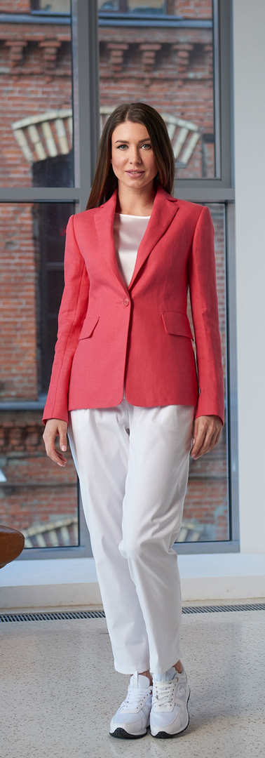 Женский коралловый пиджак 2001