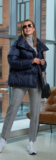 Женская зимнаяя куртка A&I синего цвета