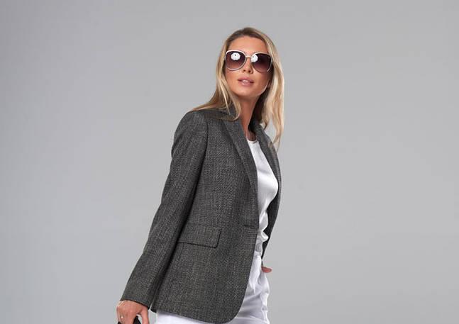 Женский пиджак. Модель A&I 2107. Цвет дымчатый