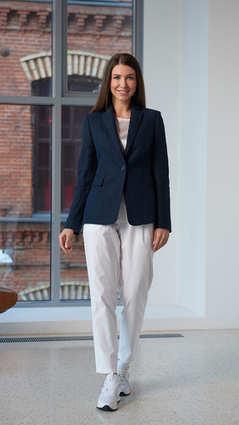 Женский синий пиджак 2001