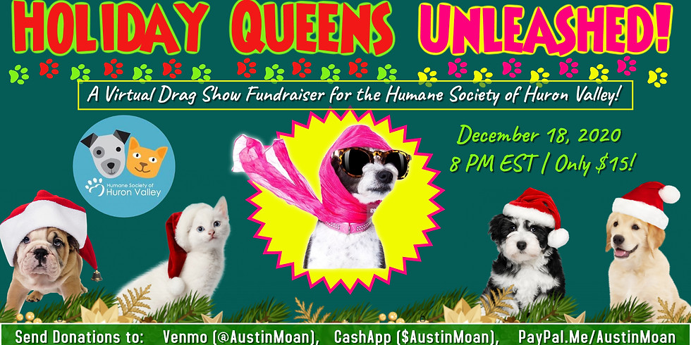 Boylesque Live Stream Show for Humane Society of Huron Valley
