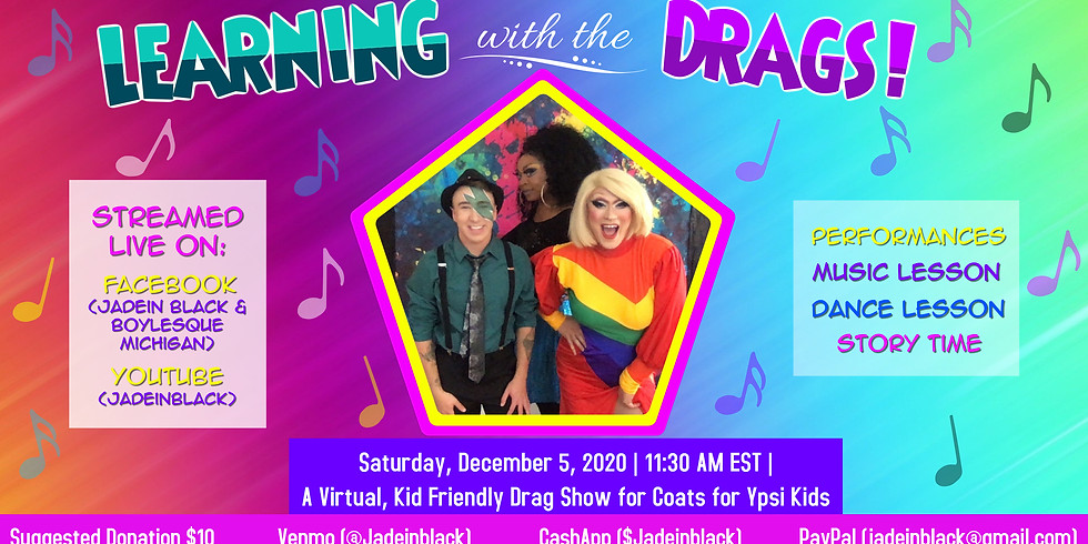 Family Friendly Drag Show for Coats for Ypsi Kids
