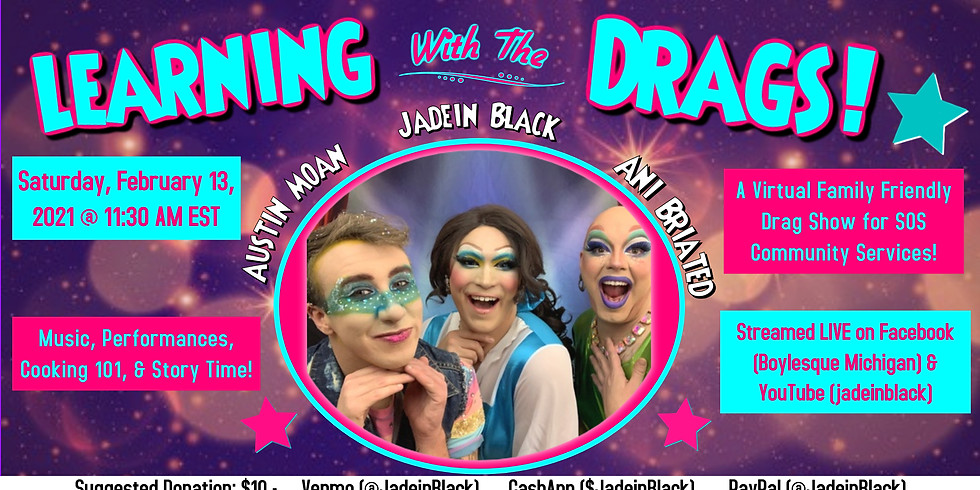 Family Friendly Drag Show for SOS Community Services