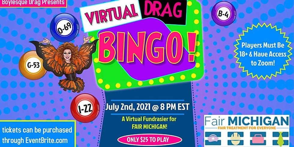 Virtual Drag Bingo for Fair Michigan