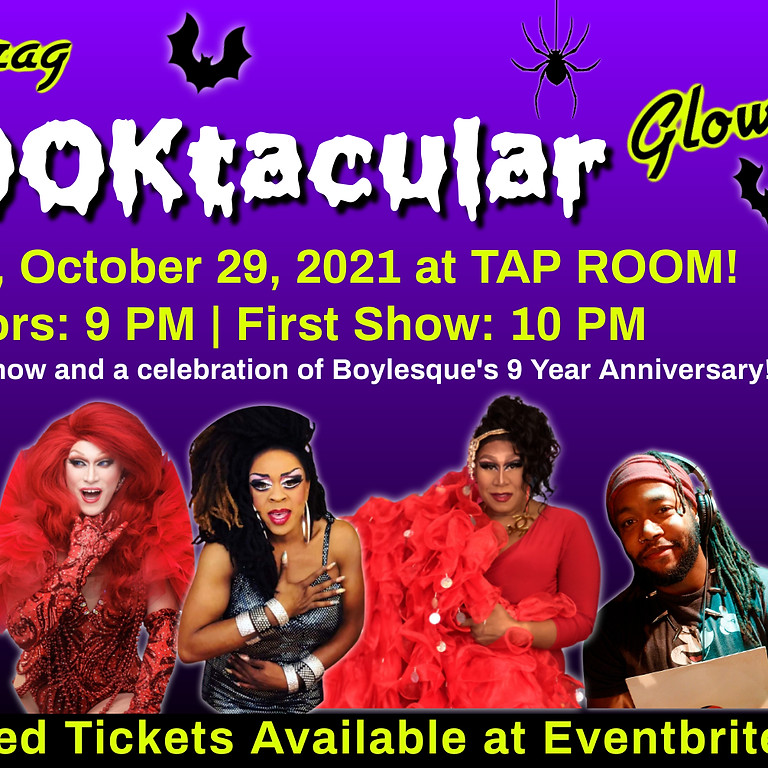 SOLD OUT- Boylesque Halloween Drag Show at Tap Room! A Fundraiser for Safe House