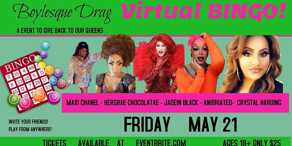 Virtual Drag Bingo with the Boylesque Drag Queens!