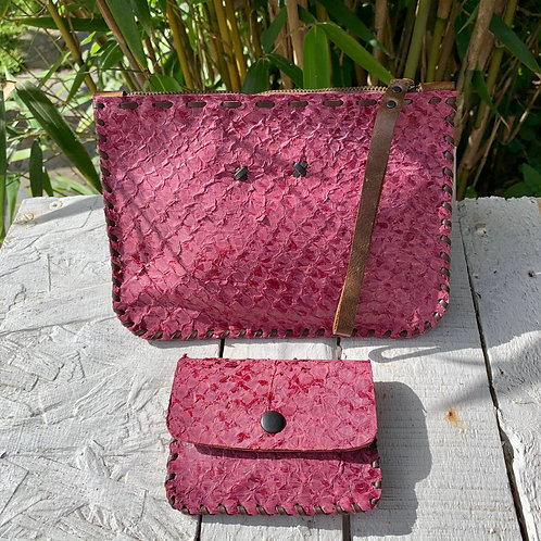 BERRY POUCH £55 & COIN PURSE £25
