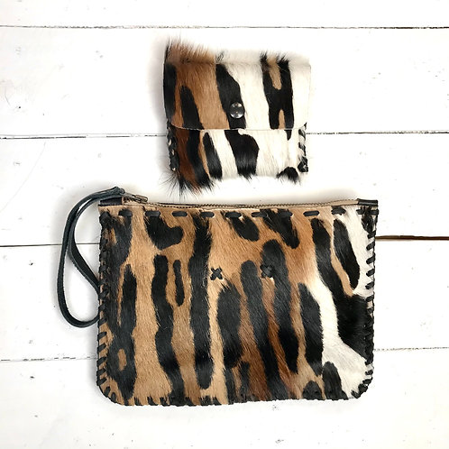 ANIMAL PRINT POUCH £55 & COIN PURSE £25