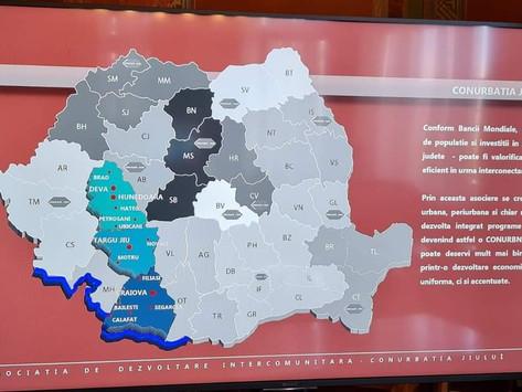 """Memorandum de înțelegere pentru Axa de dezvoltare Hunedoara – Gorj – Dolj """"Conurbația Jiului"""""""
