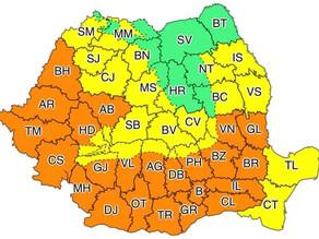 Temperaturi de peste 40 de garde în vestul și sudul țării