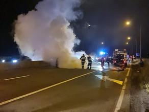 Grav accident de circulație pe A1 la ieșire din Sibiu (FOTO/VIDEO)