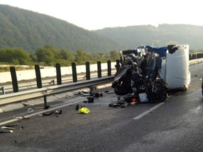 Grav accident de circulație pe A1, în zona Mintia. (FOTO)