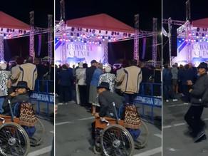 """(VIDEO) Moment surprinzător la """"Serbările Cetății"""". Un bărbat s-a ridicat din scaunul cu rotile"""