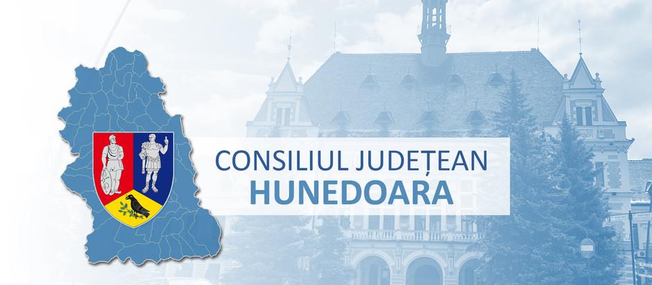 Consiliul Județean Hunedoara este convocat în ședință ordinară