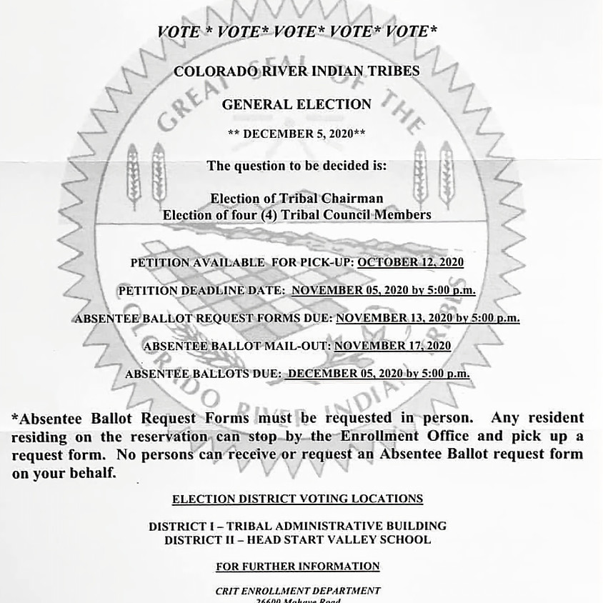 Tribal Council General Election