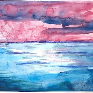 Watercolour with salt textures