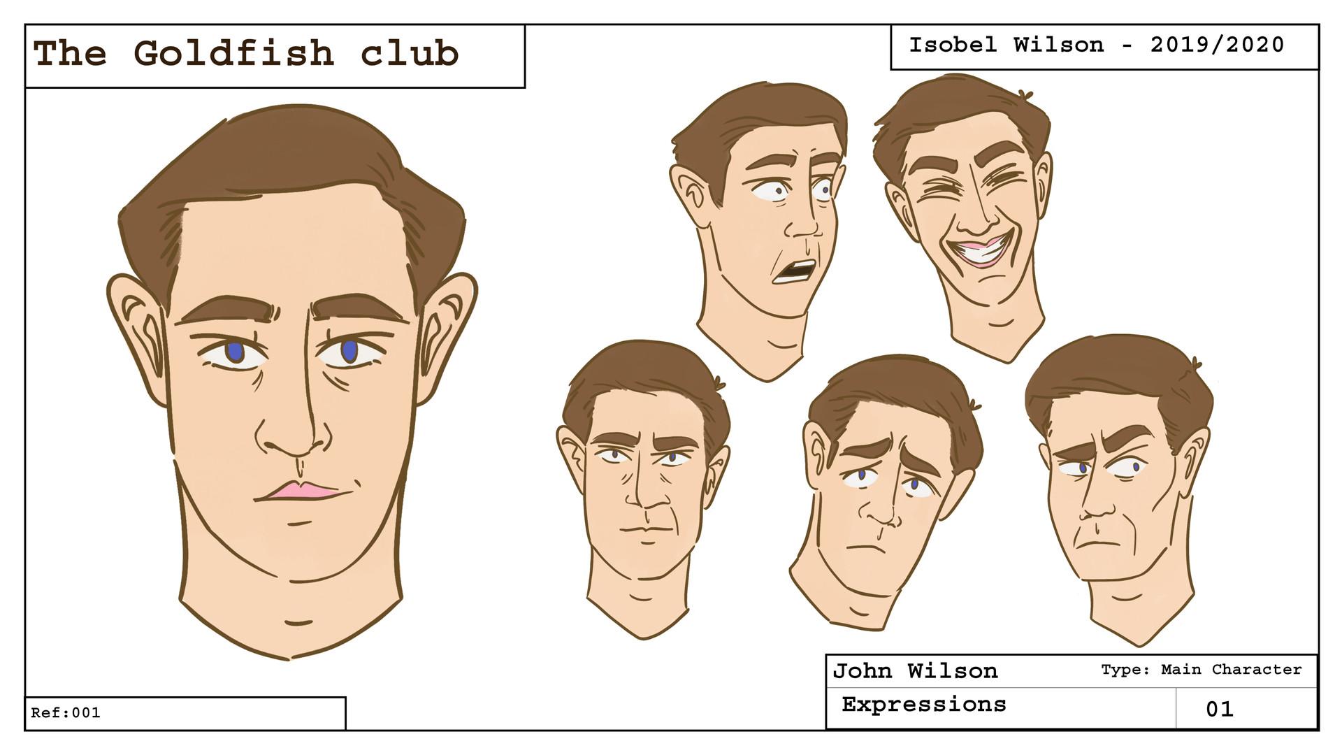 John - Character expressions