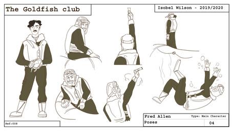 Fred pose sheet