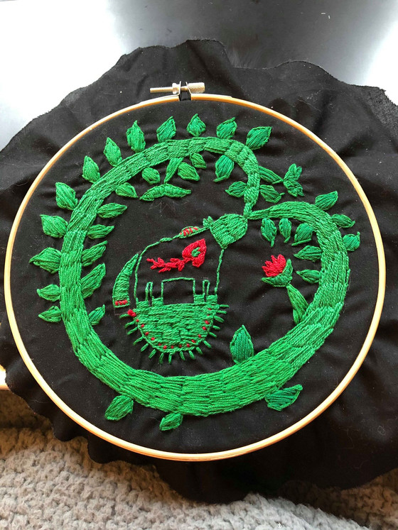 Finding solace in simple embroidery