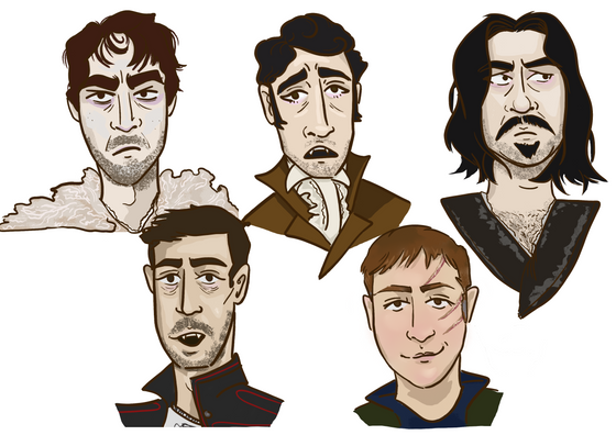 Drawing the characters from What We Do In The Shadows (2014)