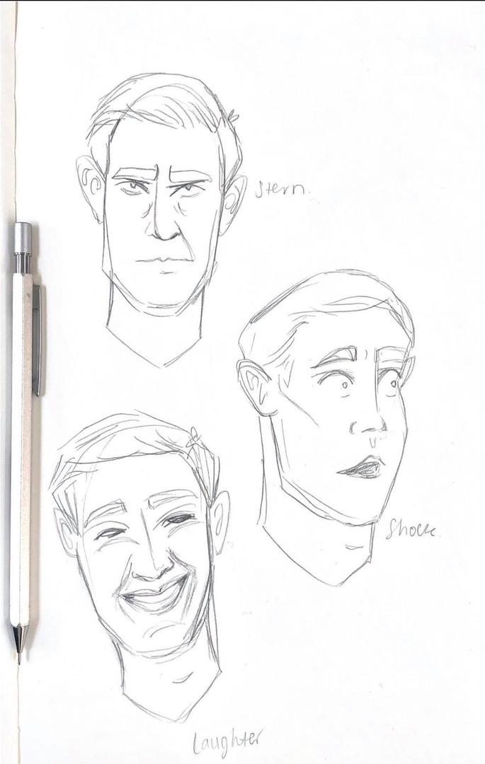 John - Expression Sketches