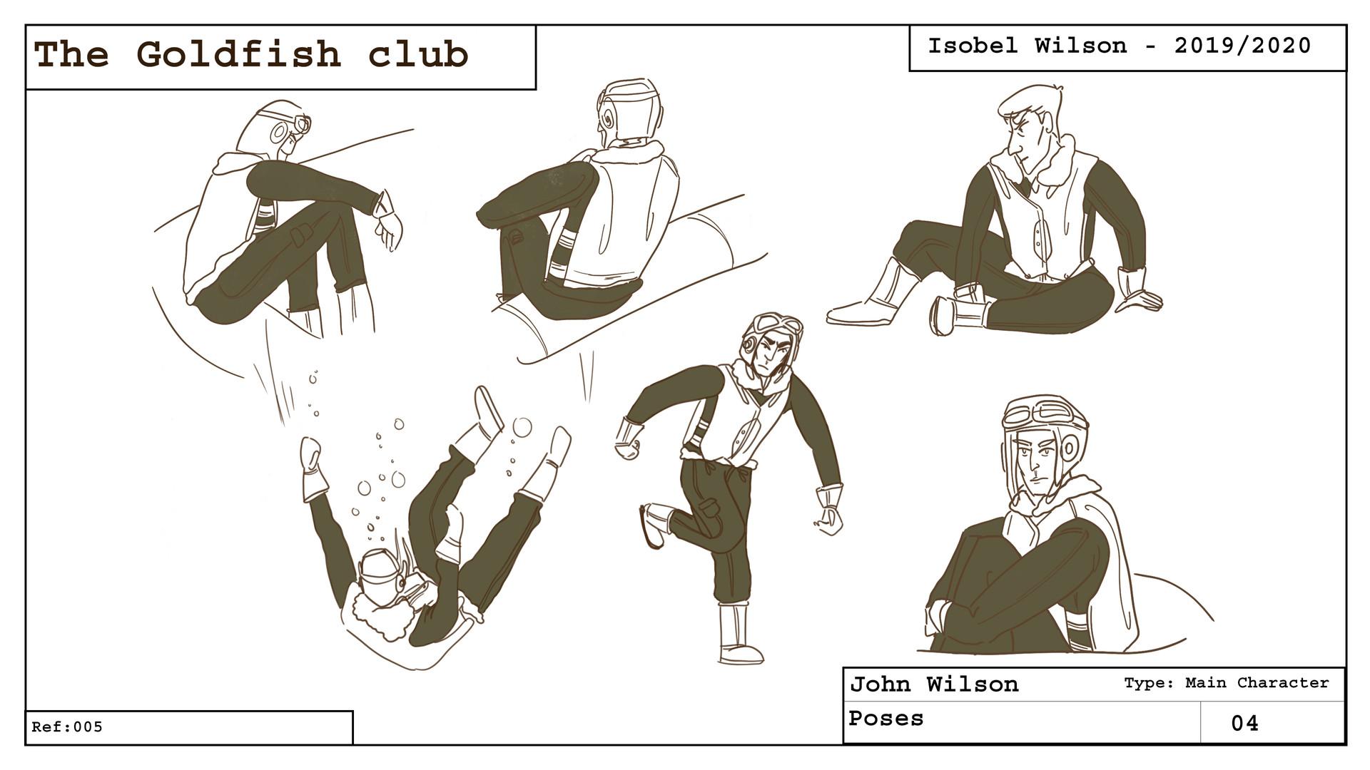 John - Character poses