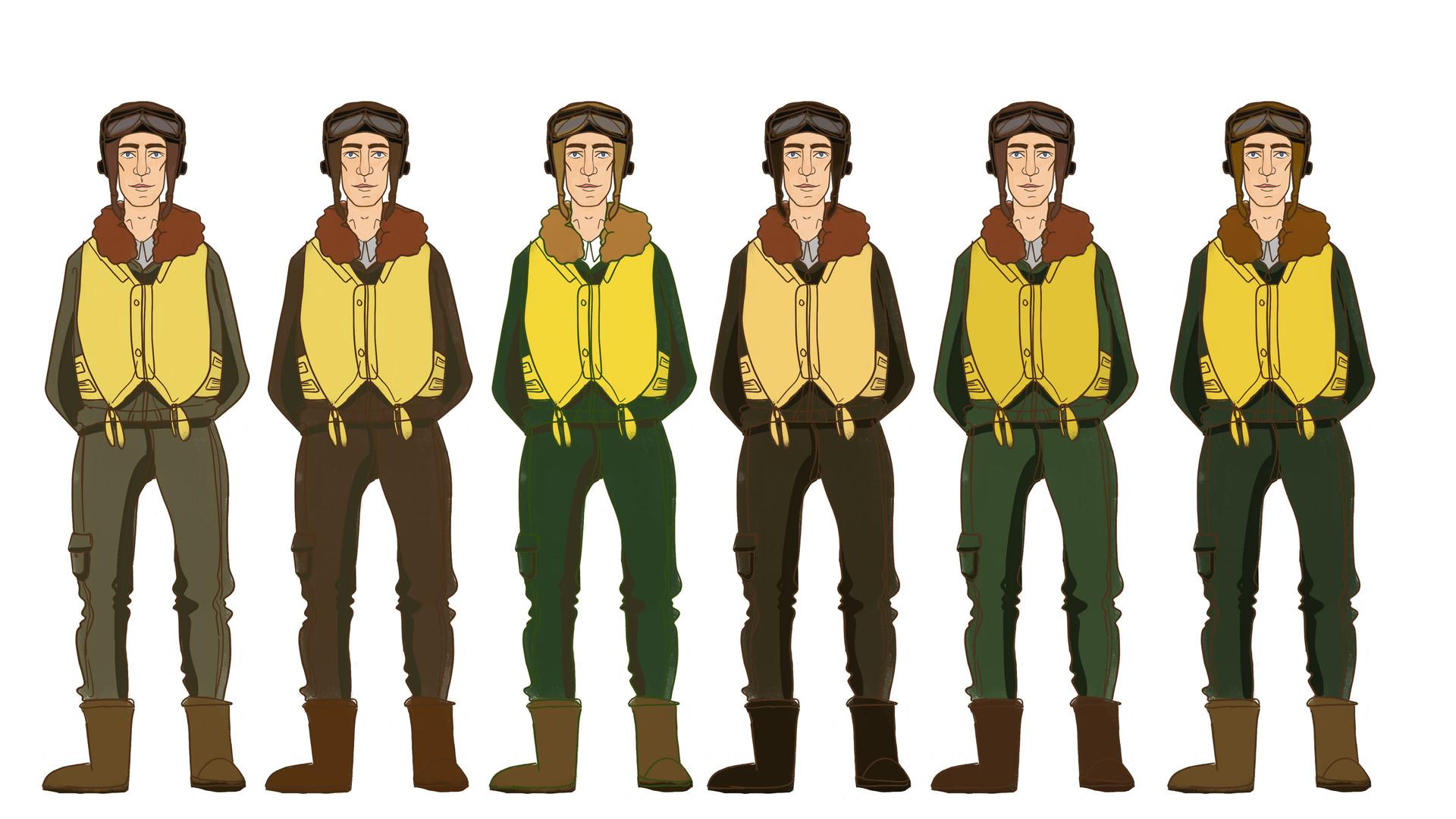John - RAF uniform colour tests