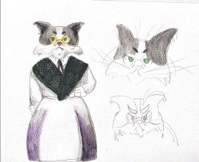 Old sly cat - Sketches