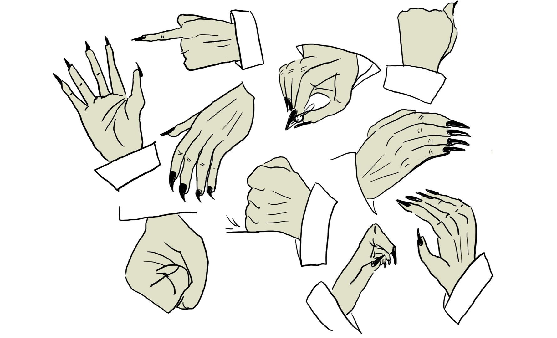 Batthew - Hand pose sheet