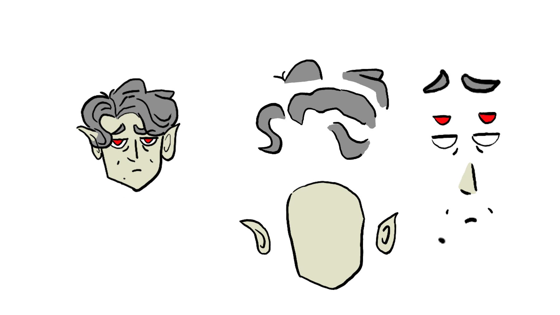 Batthew - Face and hair breakdown
