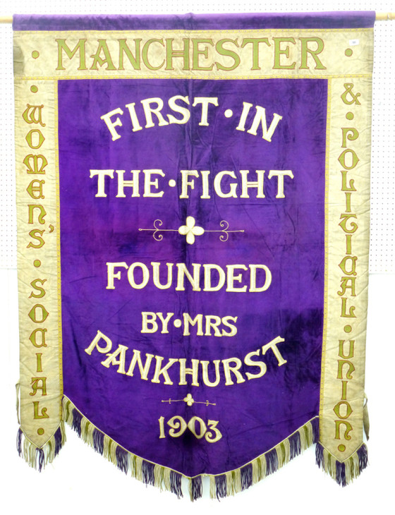 Colour tests and suffragette banners