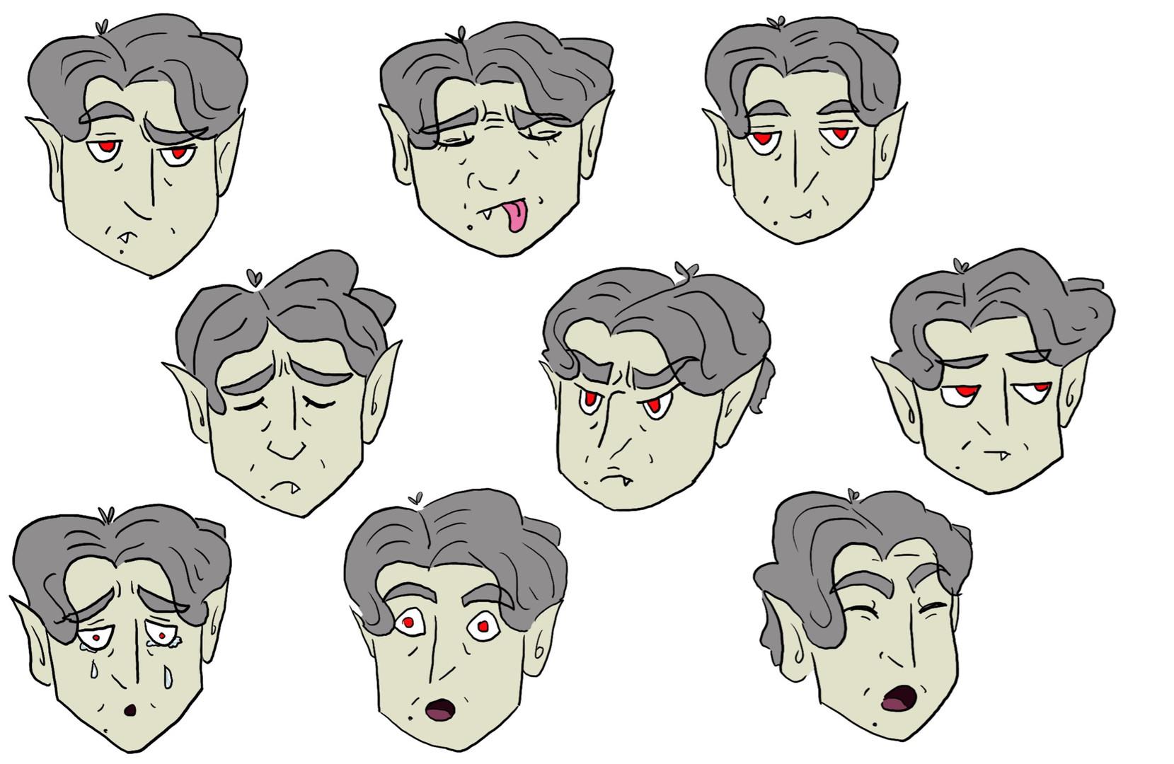 Batthew - Expression sheet