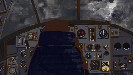Inside shot of the Wellington bomber