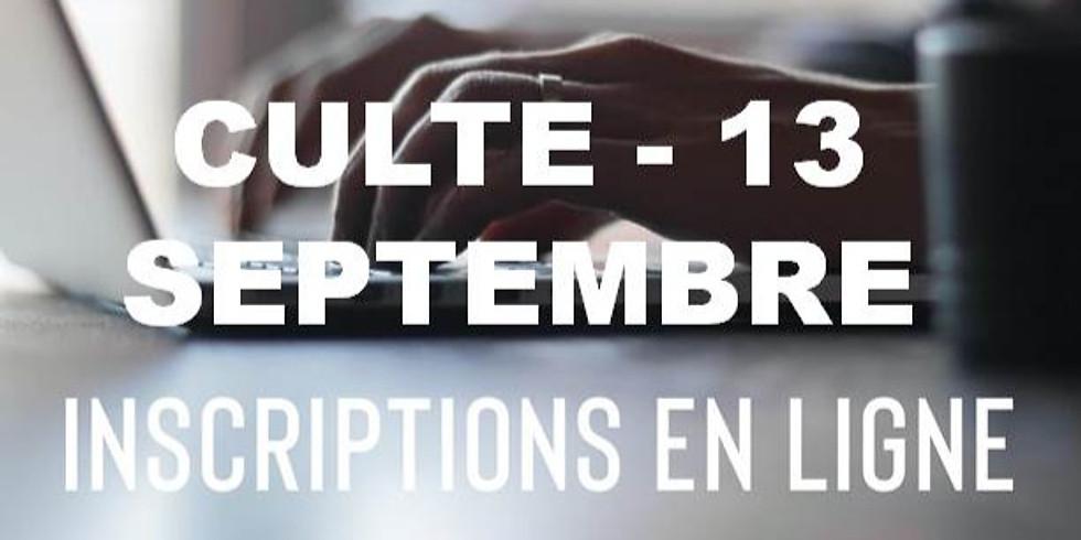 Culte 13 septembre - Communauté Chrétienne de Jette