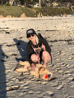 Beach day with Milo