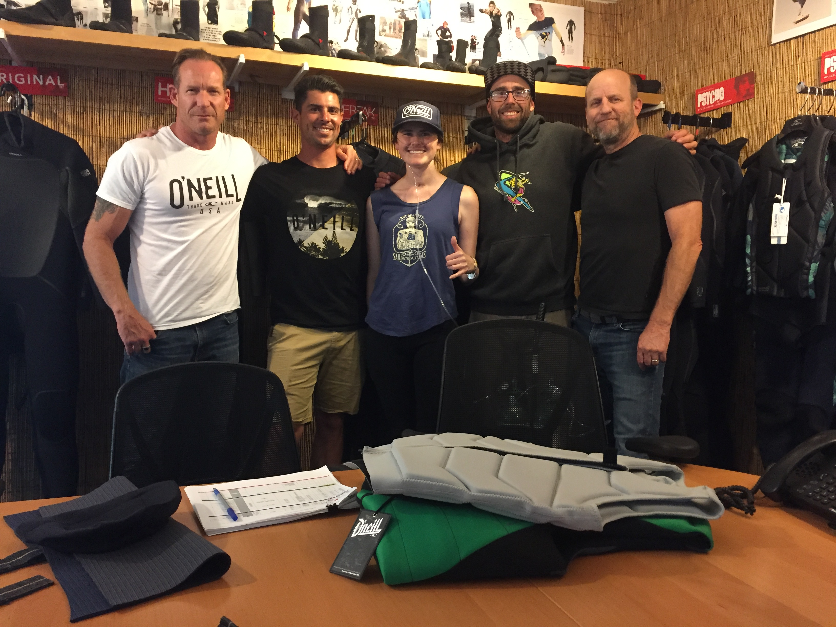 Meeting with O'Neill Wetsuits