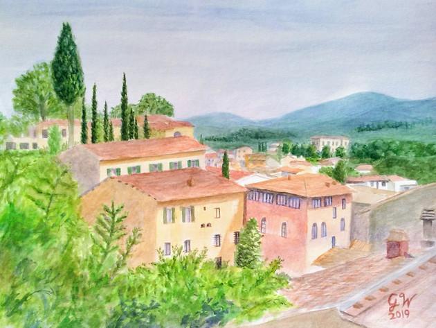 Village of Greve in Chianti
